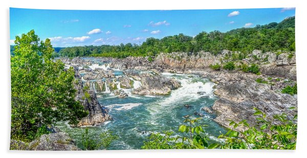Great Falls On The Potomac Beach Towel