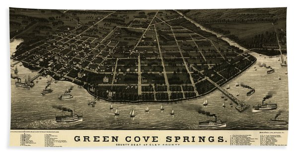 Green Cove Springs, County Seat Of Clay County, Florida Beach Towel