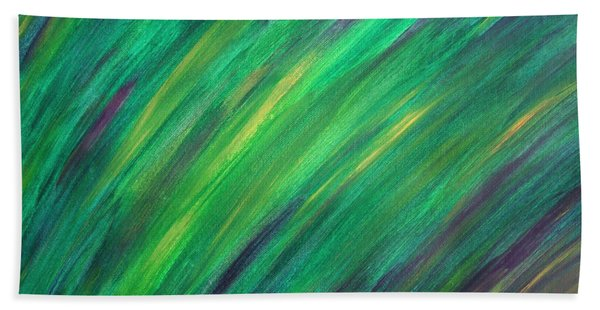 Green Future Painting Beach Sheet