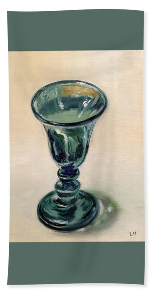 Green Glass Goblet Beach Sheet