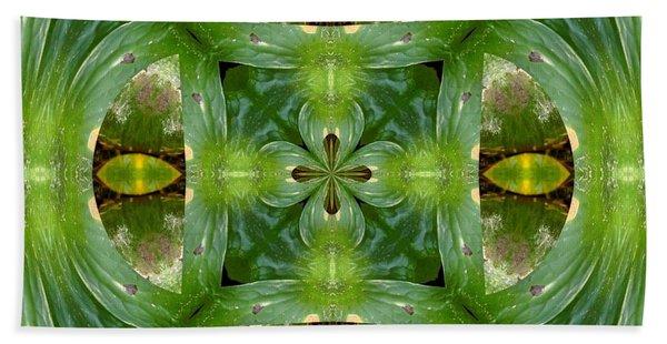 Green Glow Beach Towel