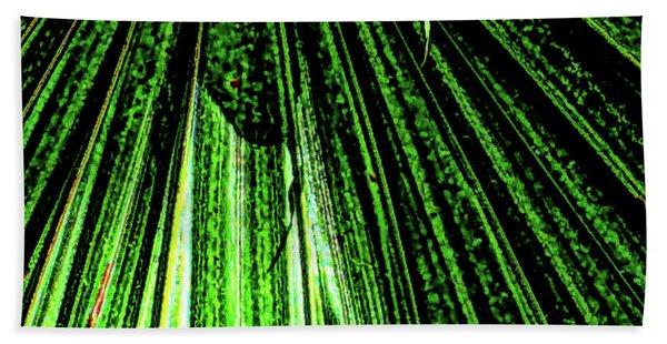Green Leaf Forest Photo Beach Sheet