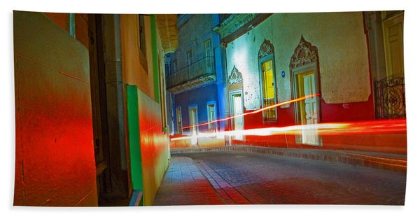 Beach Towel featuring the photograph Guanajuato Night by Skip Hunt