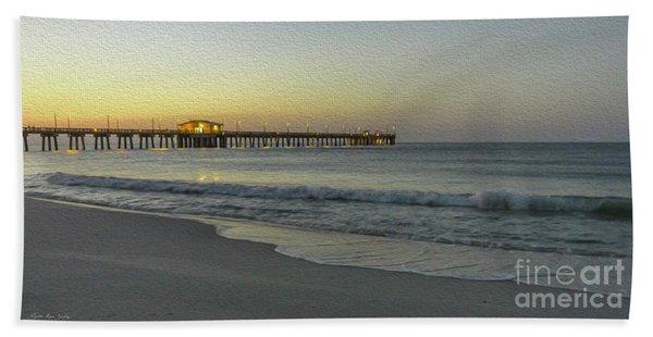 Gulf Shores Alabama Fishing Pier Digital Painting A82518 Beach Towel