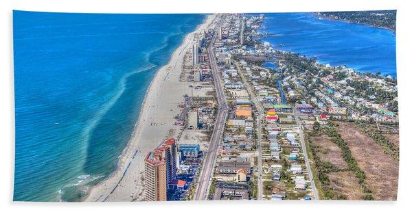 Gulf Shores Beach Looking W Beach Towel
