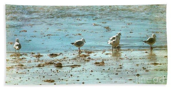 Gulls On The Edge Beach Towel
