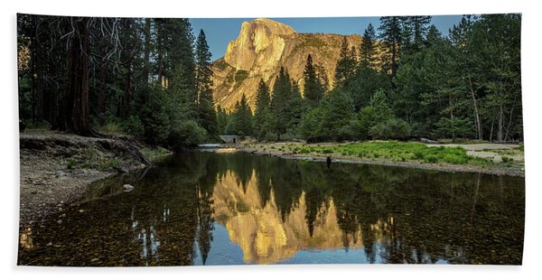Half Dome From  The Merced Beach Towel