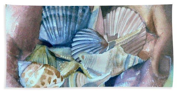 Hands With Shells Beach Sheet