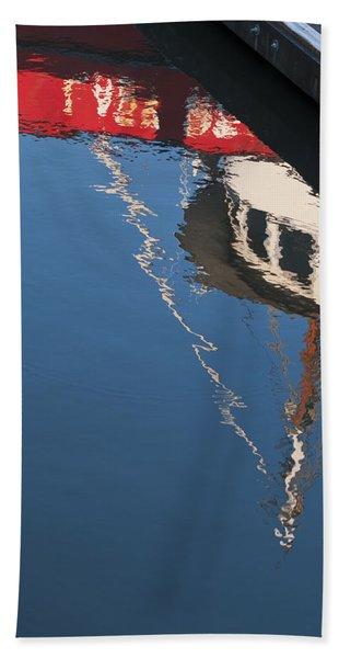 Harbor Reflections Beach Towel
