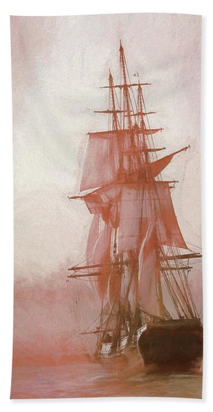 Beach Towel featuring the photograph Heading To Salem From The Sea by Jeff Folger