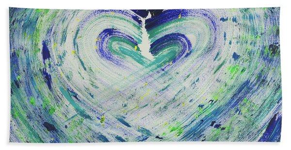 Heart Centered Peace And Love Beach Towel