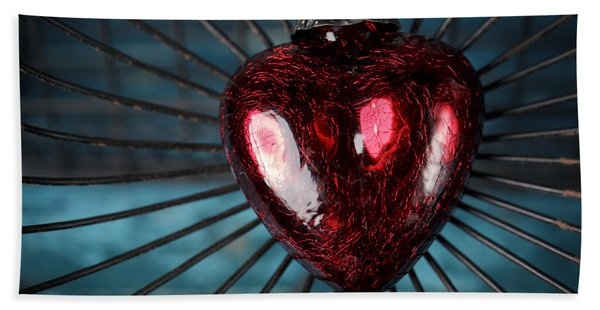 Heart In Cage Beach Towel