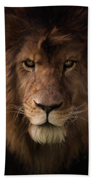 Heart Of A Lion - Wildlife Art Beach Sheet