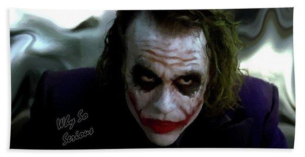 Heath Ledger Joker Why So Serious Beach Sheet