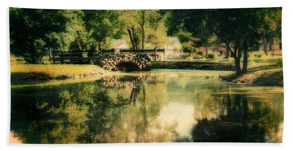 Heckscher Park Pond, Huntington Ny Beach Towel
