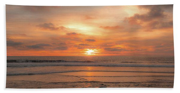 Beach Towel featuring the photograph Hermosa Sunset Classic3 by Michael Hope