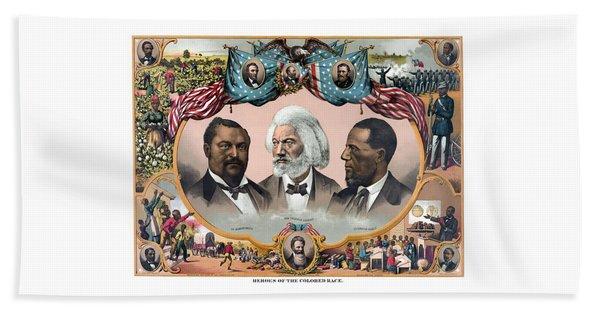 Heroes Of African American History - 1881 Beach Towel