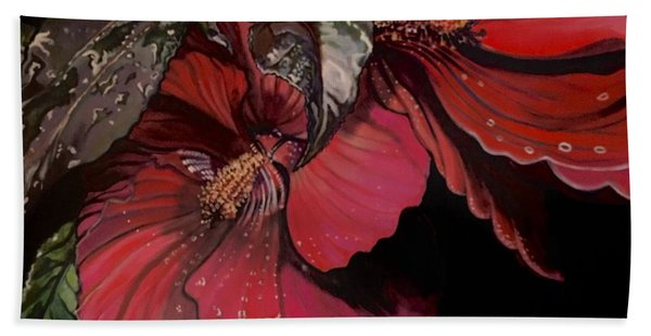 Hibiscus After The Rain Beach Towel