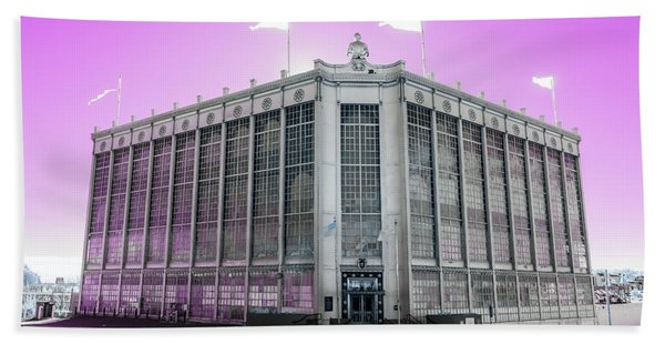 Higgins Armory In Infrared Beach Towel