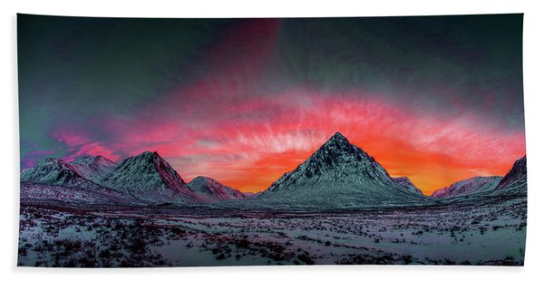 Highland Afterglow Beach Towel