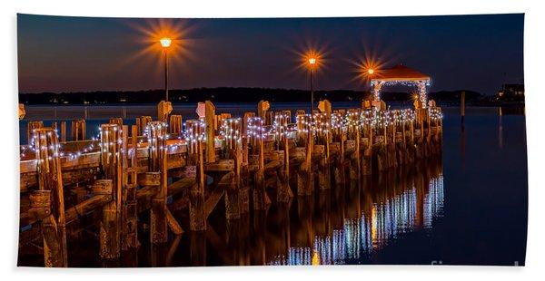 Holiday On The Docks Beach Sheet