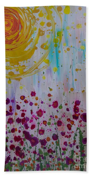Beach Towel featuring the painting Hollynation by Jacqueline Athmann