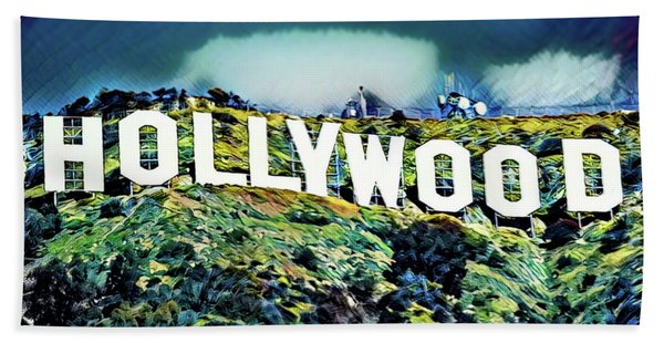 Hollywood Sign Beach Towel