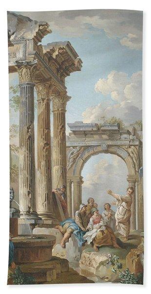 Homily Of An Apostle In Roman Ruins Beach Towel