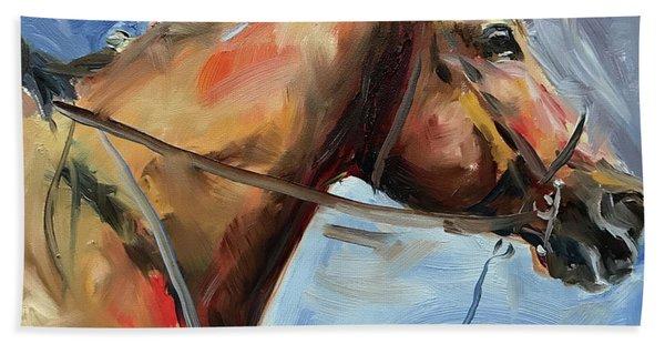 Horse Head Study Beach Towel