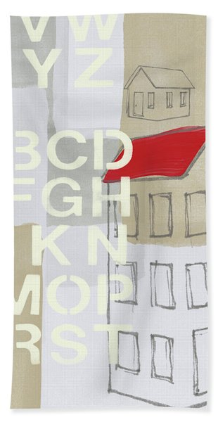 House Plans- Art By Linda Woods Beach Towel