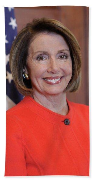House Speaker Nancy Pelosi Of California  Beach Towel