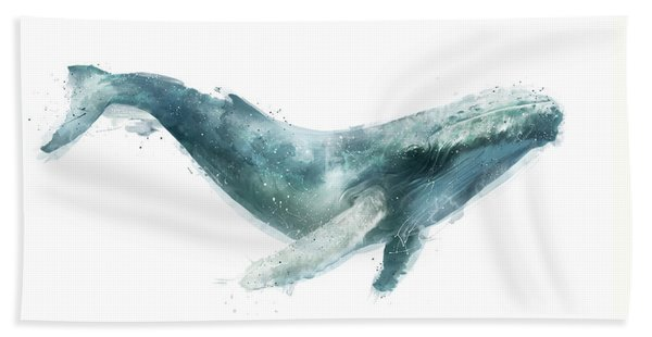 Humpback Whale From Whales Chart Beach Towel
