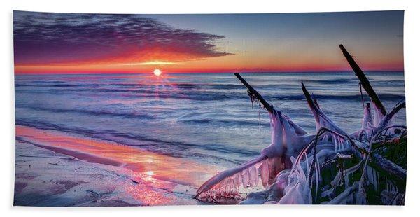 Ice Age Sunrise 1 Beach Towel