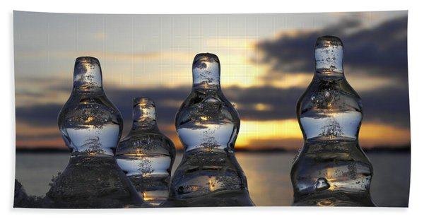 Ice And Water 3 Beach Towel