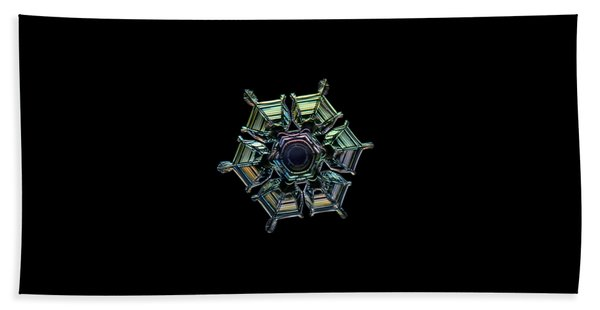 Ice Relief, Black Version Beach Towel
