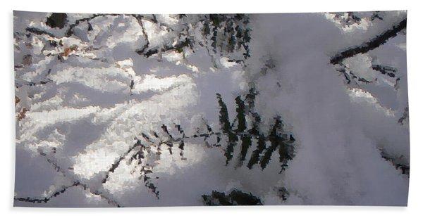 Icy Fern Beach Towel