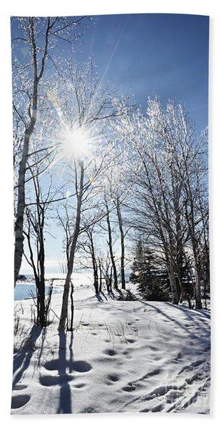 Icy Sunburst Beach Sheet