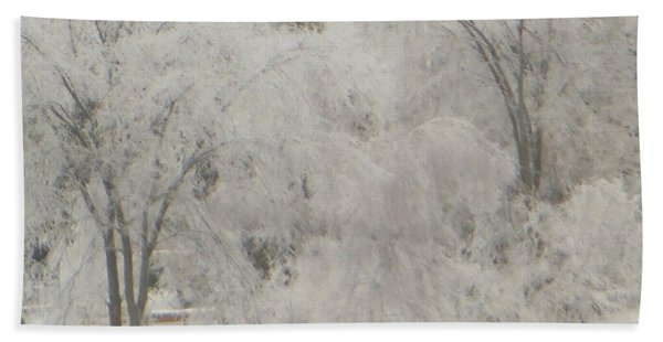 Icy Trees Beach Towel