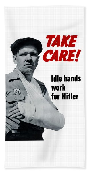 Idle Hands Work For Hitler Beach Towel