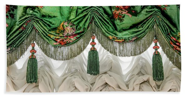 Imperial Russian Curtains Beach Towel