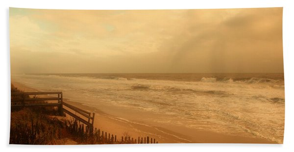 In My Dreams The Ocean Sings - Jersey Shore Beach Towel