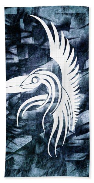 Indigo Bird Flight Contemporary Beach Towel