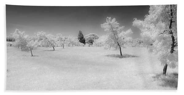Infrared Peach Orchard Beach Towel