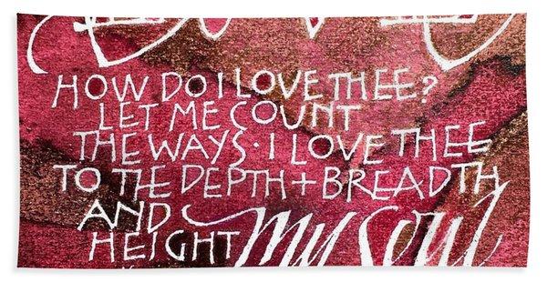 Inspirational Saying Love Beach Sheet