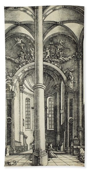 Interior Of The Church Of Saint Katherine Beach Towel