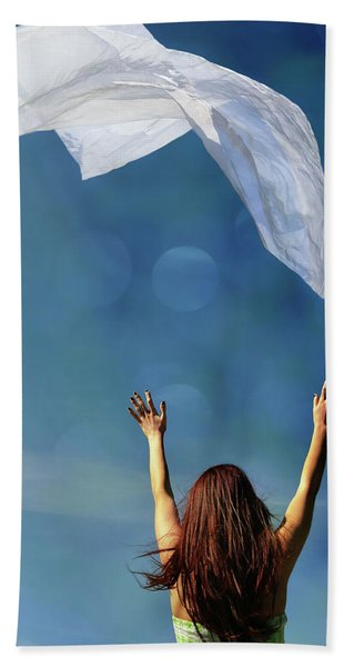 Into The Atmosphere Beach Towel