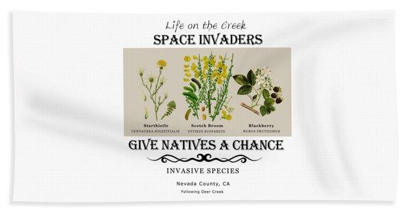 Invasive Species Nevada County, California Beach Towel