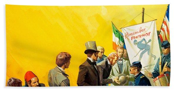 Irish Recruitment For The American Civil War Beach Towel