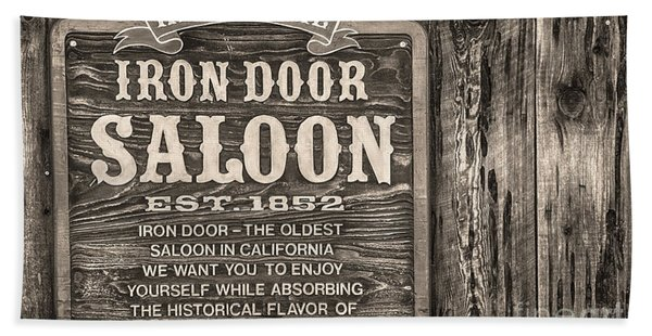 Beach Towel featuring the photograph Iron Door Saloon 1852 by David Millenheft
