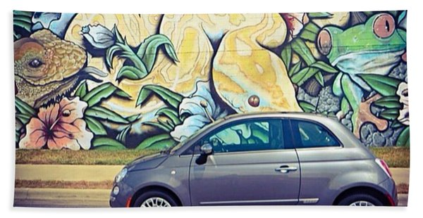 Is It Safe To Drive Mr. #fiat Into The Beach Towel